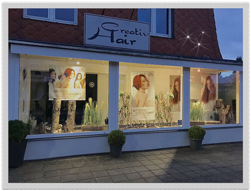 Creativ Hair Schaufenster